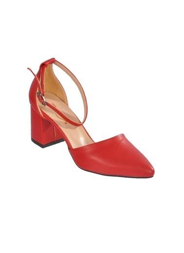 Maje 1903 Ten Kadın Topuklu Ayakkabı Kırmızı